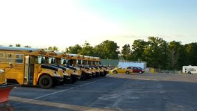 American school busses Royalty Free Stock Photography