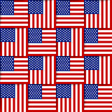 American seamless pattern Stock Images