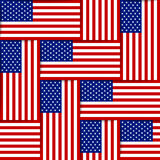 American seamless pattern Stock Photos
