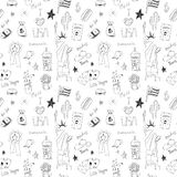 American seamless pattern Royalty Free Stock Photography
