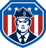 American Security Guard Flag Shield Retro Royalty Free Stock Images