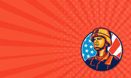 American Serviceman Soldier Flag Retro Royalty Free Stock Photography