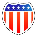 American Shield. Vector illustration of american shield Royalty Free Stock Images