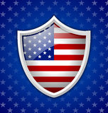 American shield badge Stock Photography