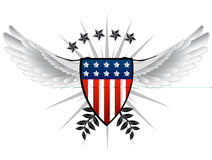 American Shield Royalty Free Stock Photo