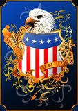 American shield with eagle() Royalty Free Stock Photography