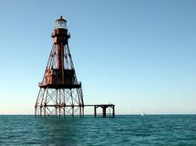 American Shoal Lighthouse Stock Image