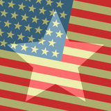 American show. Creative design of American show flag Stock Photography
