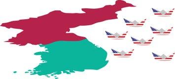 American siege to North Korea Royalty Free Stock Image
