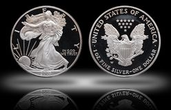 American silver eagle dollar gradient background stock photos