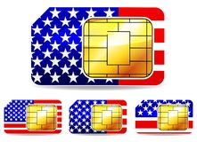 American sim card Stock Images