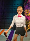 American singer Taylor Swift wax double royalty free stock image