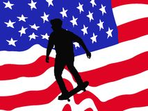 American skater vector card Royalty Free Stock Images