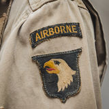 American sleeve patch at Militalia in Milan, Italy Royalty Free Stock Images