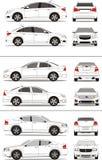 American small compact sedan car. Vector art clip art vehicle outline small sedan compact car Royalty Free Stock Photo