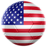 American soccer ball. 3d rendering of a American soccer ball isolated on a white background Stock Images
