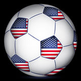 American soccer ball,  Royalty Free Stock Photography