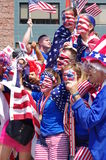 American soccer fans at 2015 FIFA Women's World Cup final Stock Images