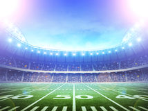American soccer stadium. An imaginary stadium is modelled and rendered Stock Photo