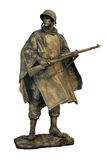 American soldier. Cut out statue of american soldier, can be used on any military theme stock images
