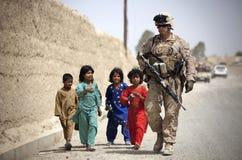 American Soldier, Humanity, Marine Stock Photo