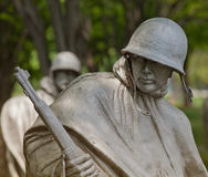 American Soldier, Korean War Veterans Memorial. Within the walled triangle of the Korean War Veterans Memorial in Washington, D.C., there are 19 stainless steel Royalty Free Stock Photo