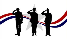 American Soldiers Royalty Free Stock Images