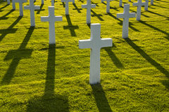American soldiers war graves Stock Images