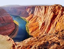 American Southwest, Grand Canyon. Scenic desert landscape at sunset. Grand Canyon and Colorado River. American Southwest stock image