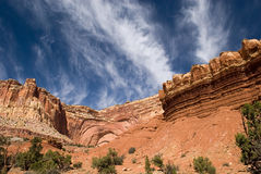 American Southwest Landscape. A landscape from America's beautiful desert near Capital Reef, Utah Stock Photos