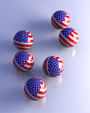 American Spheres Royalty Free Stock Photo