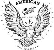 American Spirit Monochrome Emblem Stock Image