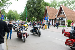 American spirit pearl rally 2015 in Palanga Royalty Free Stock Photos