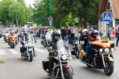 American spirit pearl rally 2015 in Palanga Stock Photo