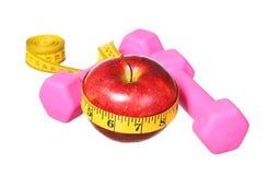 American Sport equipment. dumbbells, measuring tape Stock Photo