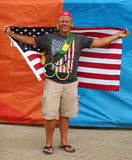 American sport fan supporting team USA during the Rio 2016 Olympic Games Stock Photos