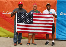 American sport fans supporting team USA during the Rio 2016 Olympic Games Stock Images