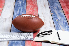 American sport tradition of football on patriot USA colors Stock Photography