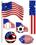 American Sports. Drawn in PS Royalty Free Illustration