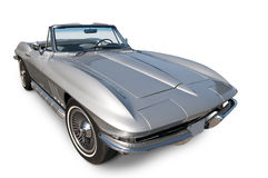 Corvette Stingray on white. A 1960s Corvette Stingray on a white background with clipping path included Stock Photography