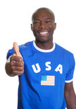 American sports fan showing thumb up Royalty Free Stock Photos