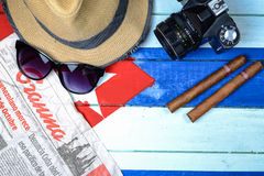 American spy in Cuba theme Stock Images