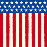 American square sketch flag Stock Image