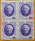 American stamps. USA stamps celebrating Elizabeth Blackwell, first woman physician Royalty Free Stock Photo
