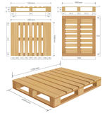 American standard pallet views Stock Images