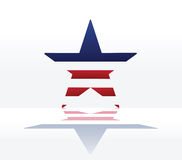 American star abstract background. Vector illustration Stock Image