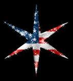 American Star Comet. / Hight Quality / Black Background Stock Illustration