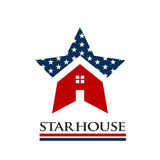 American Star House Logo Illustration. Concept for an American Identity Business Stock Photo