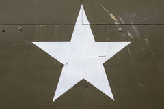 American Star on a Military Vehicle Royalty Free Stock Image