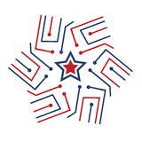 American star tech Logo Stock Photos